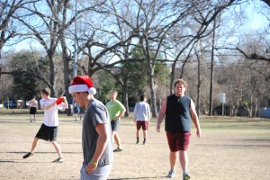 Atchley santa hat - football